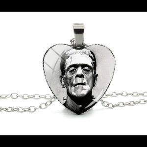 Jewelry - Frankenstein Silver-tone heart shape necklace New